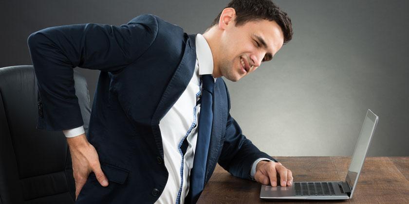 Cómo evitar los dolores de espalda en el trabajo